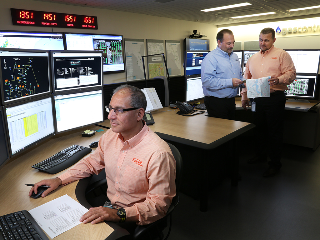 The new Peoples Gas gas control facility at TECO Plaza has everything our customers need to be confident that their natural gas service remains uninterrupted and safe.